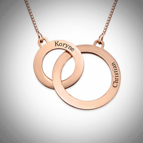 Rose Gold Eternity Circle Necklace