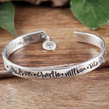 Load image into Gallery viewer, Family Tree Cuff - Choose A Metal