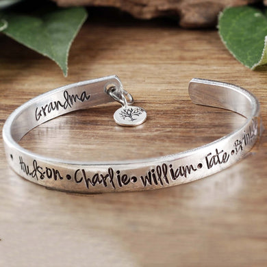 Family Tree Cuff - Choose A Metal