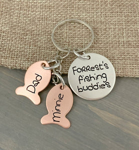 Fishing Buddies Keychain