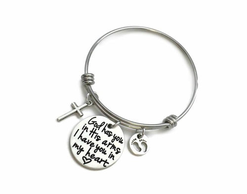 God Has You In His Arms Bangle Bracelet