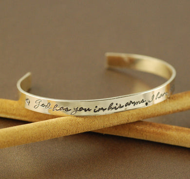 God Has You In His Arms, I Have You In My Heart Cuff Bracelet 2