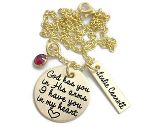 Gold God Has You In His Arms Necklace