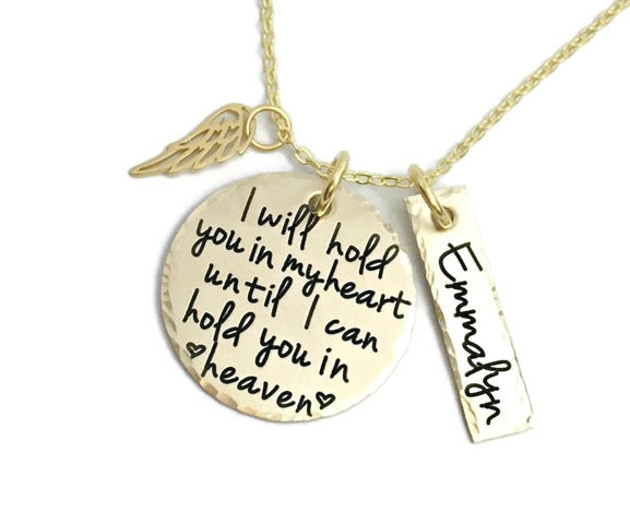 Gold Hold You In My Heart Necklace
