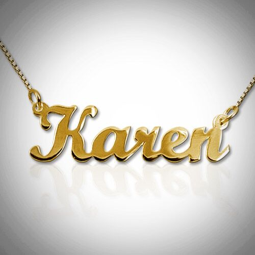 18K Gold-Plated Nameplate Necklace