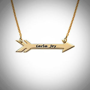 Sterling Silver or Gold - Personalized Arrow Necklace