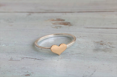 Delicate Gold Heart Accent Ring