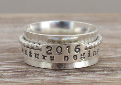 Sterling Silver Special Date Spinner Ring