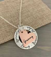 Load image into Gallery viewer, Mixed Metal Heart Necklace
