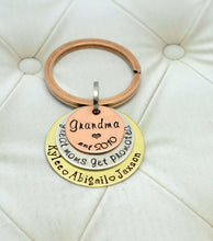 Load image into Gallery viewer, MIXED METAL GRANDMA KEYCHAIN