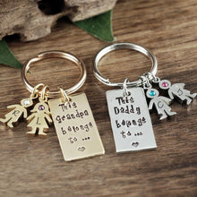 Load image into Gallery viewer, Grandparent And Child Keychain - Choose A Color