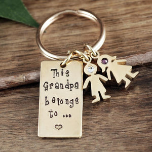 Grandparent And Child Keychain - Choose A Color