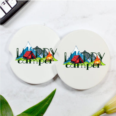 Happy Camper Car Coasters