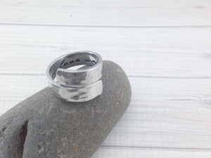 Secret Message Wrapped Ring