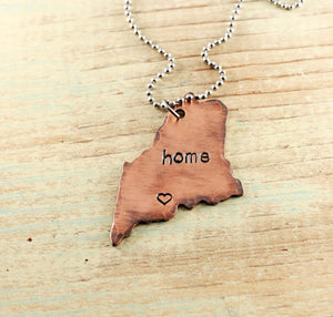 Home State Love Copper Necklace (all 50 states available)