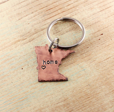 Home State Love Copper Keychain (all 50 states available)