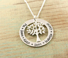 Load image into Gallery viewer, Family Tree Loop Necklace