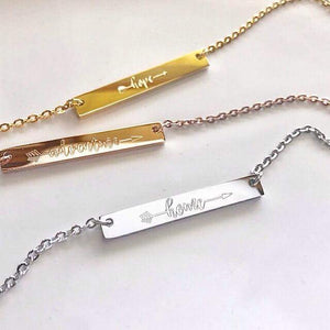 Arrow Bar Necklaces-Choose Your Metal