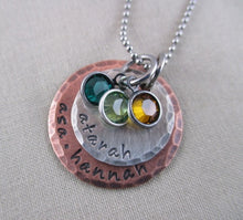 Load image into Gallery viewer, Rustic Mixed Metal Two Disc Necklace