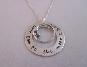 Love You To The Moon and Back Charm Loop