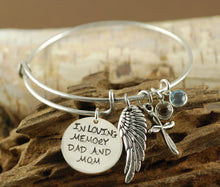 Load image into Gallery viewer, In Loving Memory Bangle Bracelet