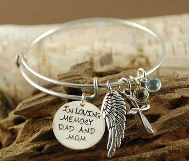 In Loving Memory Bangle Bracelet
