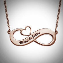 Load image into Gallery viewer, Infinity Heart Necklace - Choose a Metal