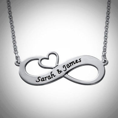 Infinity Heart Necklace - Choose a Metal