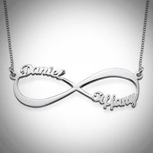 Load image into Gallery viewer, Sterling Silver Infinity Names Necklace