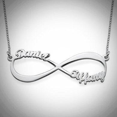 Sterling Silver Infinity Names Necklace