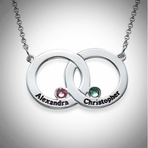 Sterling Silver Infinite Love Birthstone Necklace
