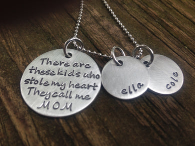 These Kids Stole My Heart Necklace
