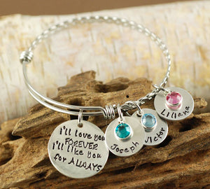 I'll Love You Forever Twist Bangle Bracelet