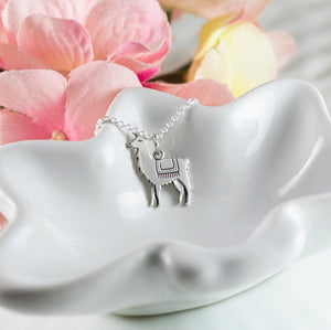 Sterling Silver Llama Necklace