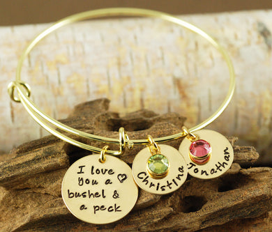 Bushel And A Peck Gold-Tone Bangle Bracelet