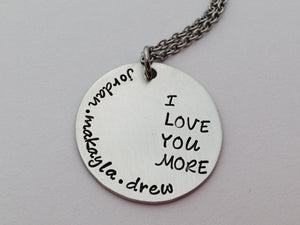 I Love You More Personalized Necklace 2