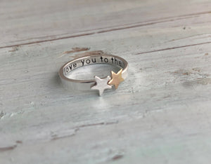 Love You To The Stars Ring