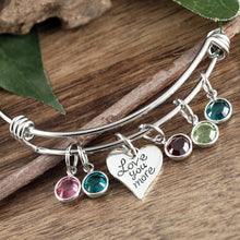 Load image into Gallery viewer, Love You More Bangle Bracelet