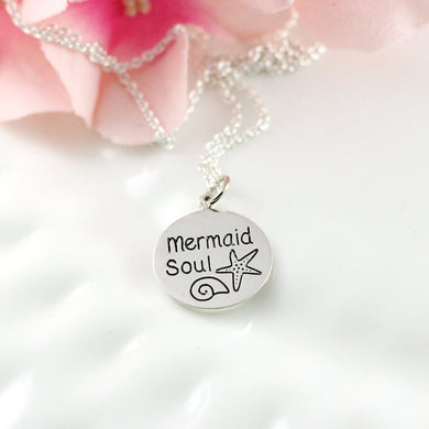 Sterling Silver Mermaid Soul Necklace
