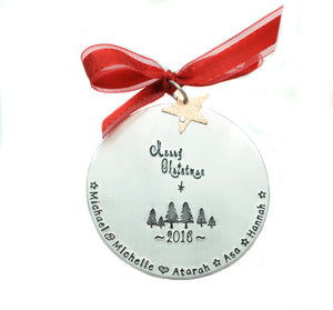 Merry Christmas Family Ornament
