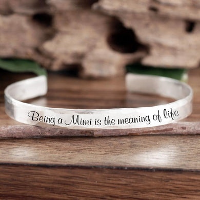 The Meaning Of Life Cuff Bracelet