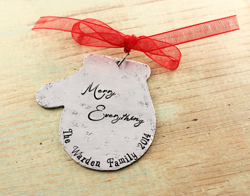 Mitten Family Christmas Ornament