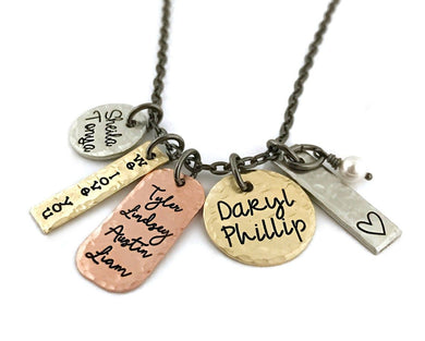 Mixed Metal Family Necklace