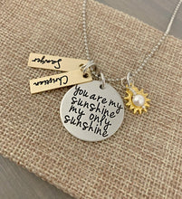 Load image into Gallery viewer, Mixed Metal You Are My Sunshine Necklace