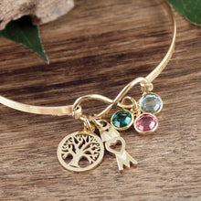 Load image into Gallery viewer, Infinity and Charms Bangle Bracelet - Choose Color