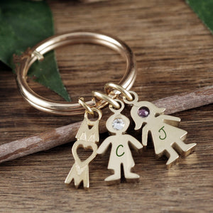 Mom And Child Keychain - Choose A Color