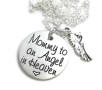 Mommy To An Angel In Heaven Necklace