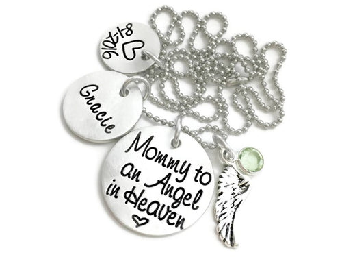 Mommy To An Angel Personalized Necklace
