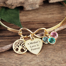 Load image into Gallery viewer, A Mother's Love- Infinity Bangle Bracelet - Choose Color