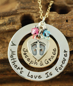 A Mother's Love is Forever Mixed Metal Necklace